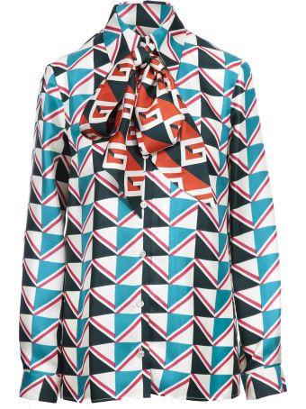 Gucci Geometric Print Blouse