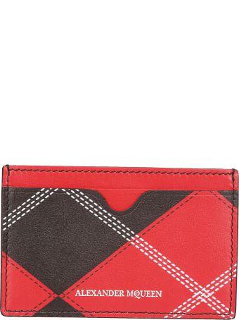 Alexander McQueen Plaid Card Holder