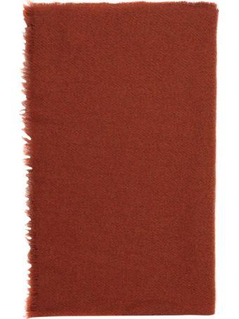 Rick Owens Rust Wool Blend Ideal Stole
