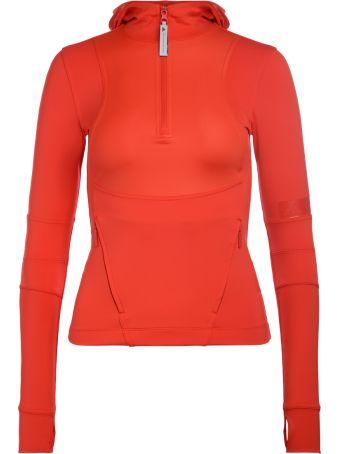 Stella McCartney Adidas By Stella Mccartney Red Technical Fabric Hoodie