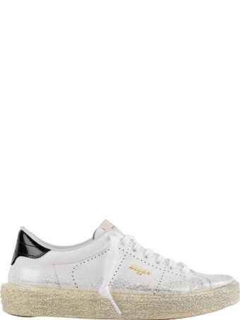 Golden Goose Sneakers Tennis Silver Glitter Spray