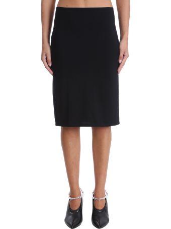 Jil Sander Black Lycra Skirt