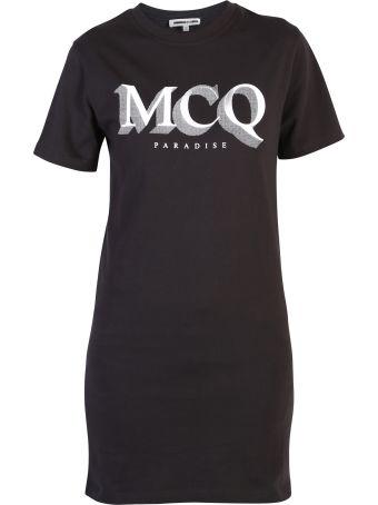 McQ Alexander McQueen Black Branded Dress