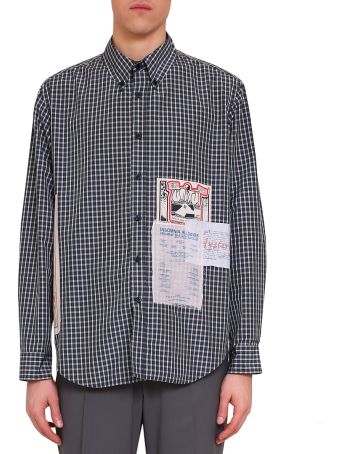 Martine Rose Flyer Patches Check Cotton Shirt