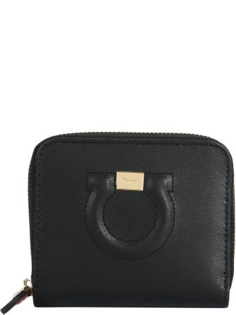 Salvatore Ferragamo Zip Around Gancio Wallet