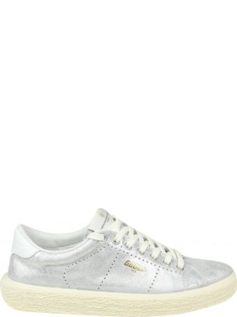 """Golden Goose """"tennis"""" Sneakers In Silver Glittered Effect Leather"""