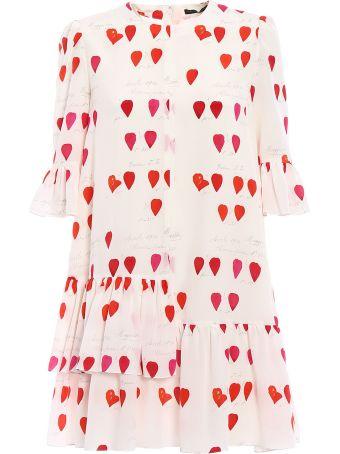 Alexander McQueen Asymmetric Ruffle Over Dress