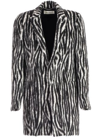 Saint Laurent Single-breasted Fur Coat