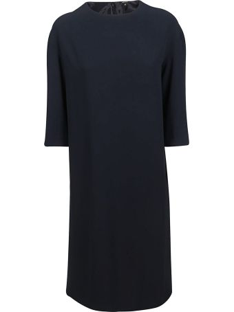 Aspesi Roundneck Crepe Dress