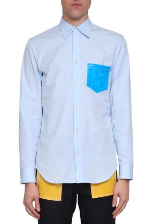 Maison Margiela Pvc Pocket Cotton Shirt