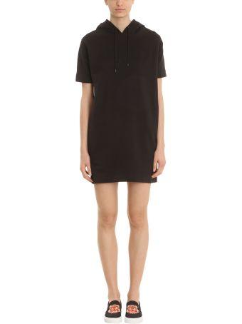 Kenzo Black Cotton Sweatshirt Dress