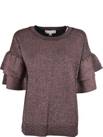 Michael Kors Dbl Ruffle Sl Sweater