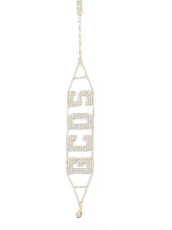 GCDS Fw19w010083 Gold Logo Choker16