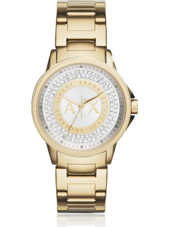 Armani Collezioni Armani Exchange Lady Banks Gold Tone Women's Watch
