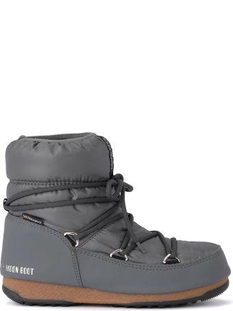 Moon Boot W.e. Low Grey Nylon Waterproof Moon Boot.