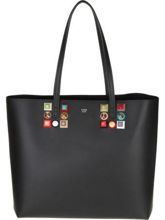 Fendi Bag Roll Leather With Black Stud