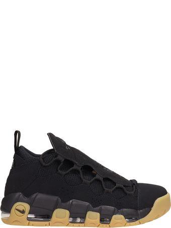 Nike Air More Money Black Nabuk Sneakers