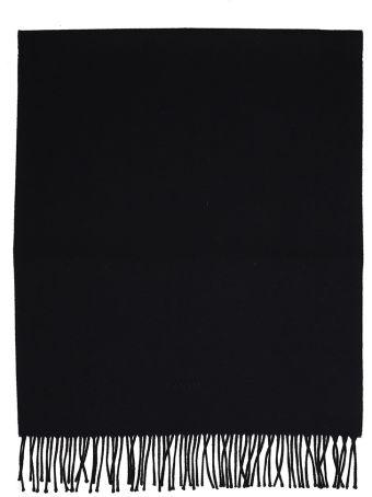 Lanvin Black Wool Scarf