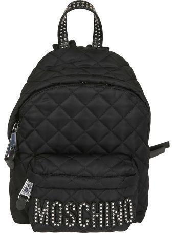 Moschino Studded Logo Backpack
