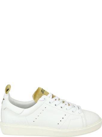 """Golden Goose """"starter"""" Sneakers In White Leather With Velvet Details"""