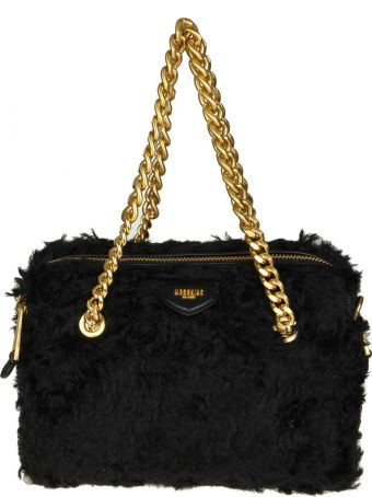Moschino Shoulder Bag In Mohair Color Black