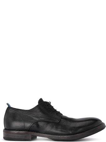 Moma Cusna Black Old Leather Lace Up Shoes.