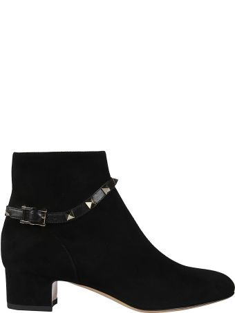 Valentino Rockstud Steady Heel Booties