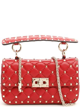 Valentino Small Leather Rockstud Spike Bag