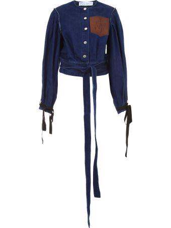 Denim Jacket With Leather Pocket