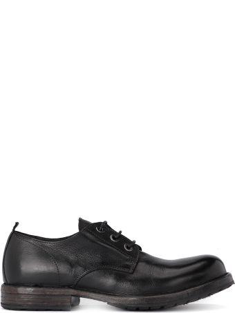 Moma Bufalo Black Leather Lace Up Shoes.