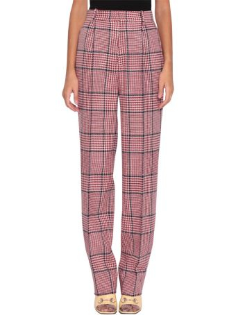 Gucci Check Wool Trousers