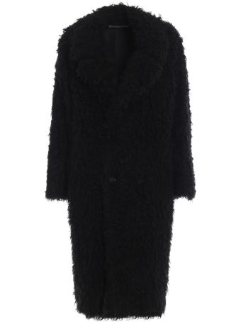 Saint Laurent Curly Faur Fur Coat