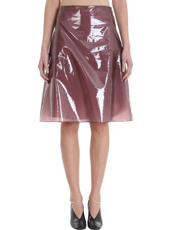 Jil Sander Sheer Burgundy Skirt