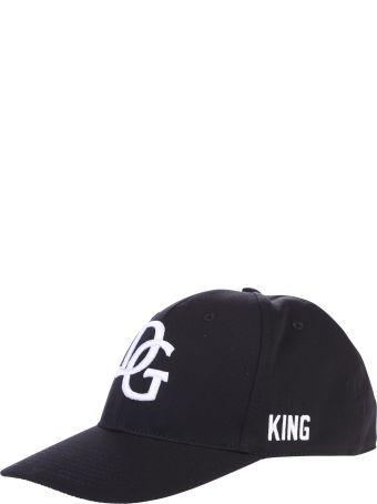 Dolce & Gabbana Black Branded Baseball Hat