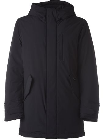 Woolrich Black Stretch Military Parka