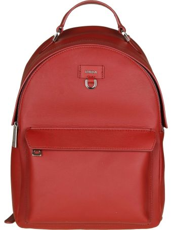 """Furla """"favola S"""" Backpack In Cherry Color Leather"""