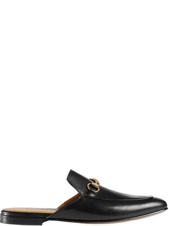 Gucci Slipper In Black Leather
