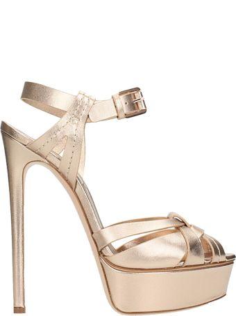 Casadei Tan Plateau Sandals