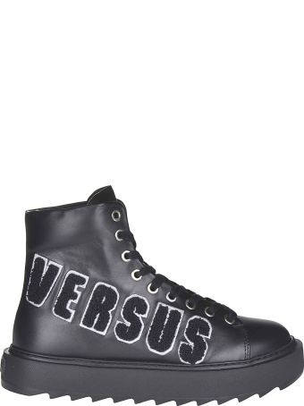 Versus Versace Logo Patched Laced-up Boots