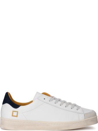 D.A.T.E. Twist Calf White Leather Sneaker