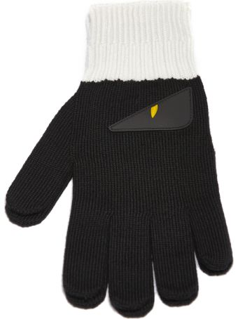 Fendi Bad-bugs Applique Gloves