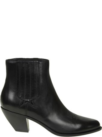 """Golden Goose """"sunset"""" Black Leather Ankle Boots"""