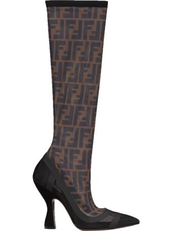Fendi Colibri Knee High Over-the-knee Boots