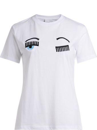 Chiara Ferragni Flirting White Cotton T-shirt