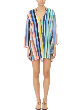 Diane Von Furstenberg V Neck Tied Mini Dress