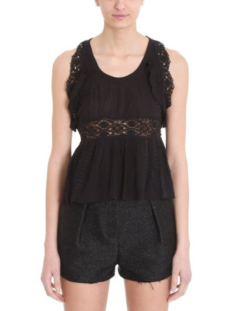 IRO Lema Black Cotton Topwear