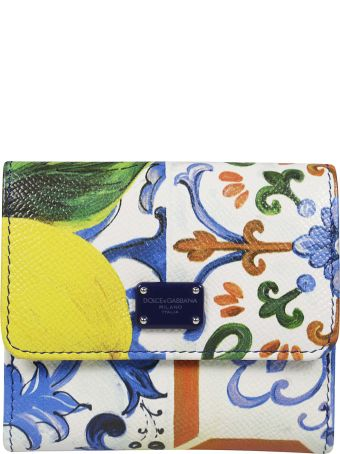 Dolce & Gabbana Floral French Wallet