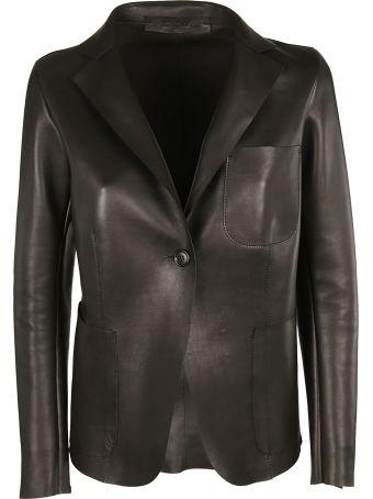 Salvatore Santoro Leather Blazer