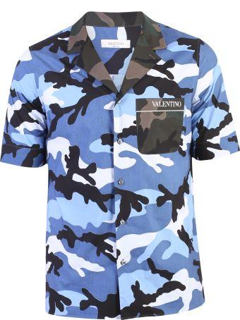 Valentino Blue Camouflage Shirt