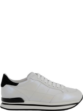 Hogan White/black Leather Sneakers